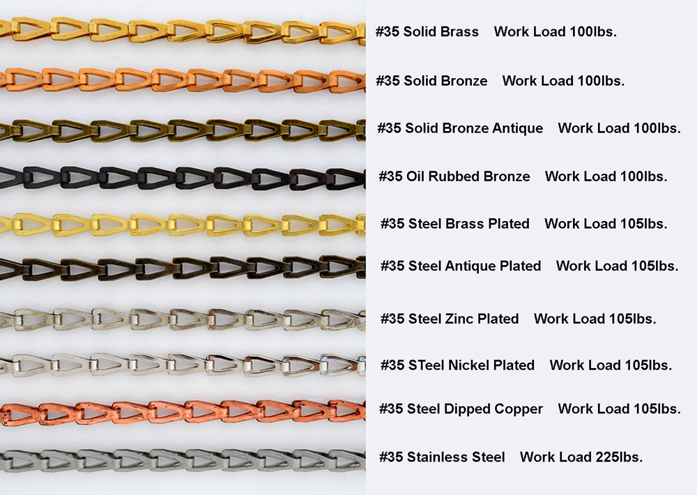#35 stainless steel window chain