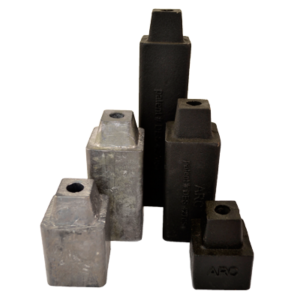 Stackable sash weights in cast iron or lead